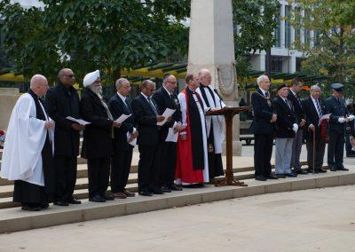 BNTVA Chaplain leads the multi-faith service