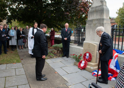 Martin Blackburn Laying a wreath at the Leeds memorial 2018