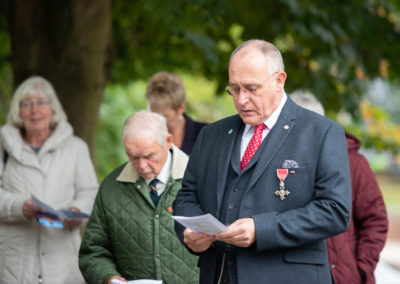 Nigel Heaps MBE, Reading a lesson at the Leeds re-dedication ceremony