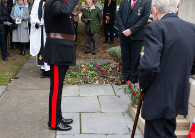 The Lord Lieutenant of West Yorkshire Laying a wreath at the Leeds memorial