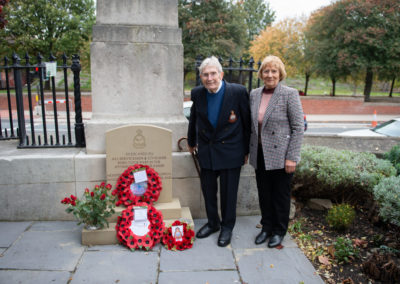 Mr & Mrs Brian Gay at the Leeds memorial 2018