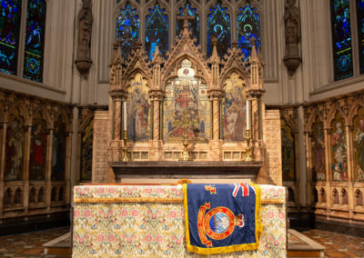 West Yorkshire Standard on the altar at Leeds Minster. Laying up ceremony 2018